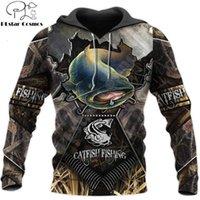 Mens Designer t shirts Beautiful Cool Catfish Fishing 3d Printed Unisex Deluxe Hoodie Sweatshirt Zip Pullover Casual Tracksuit Sudadera Hombre Dw0332 N9GC