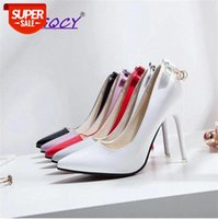 Butterfly-knot Pointed Toe Thin Heels 10cm High Heel pumps women shoes 2019 spring autumn Wild Nightclub Sexy Party #Xp32
