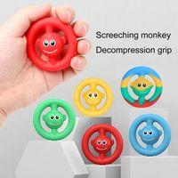 Party Fash Decompression Grip Silicone Акустическая игра Кричащая обезьяна Упражнение пальца Рука рукоятки Snapperz сжимает неразрезанную игрушку