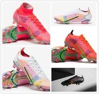 2021 원래 남성 축구 신발 CR Mercurial Superfly Xiv 엘리트 FG 축구 Cleats CR7 Neymar 축구 부츠 남성 Scarpe Calcio Size39-45