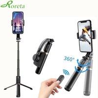 Roreta Bluetooth Затвор Беспроводной Bluetooth Selfie Stick Складной Штатив Ручной Гимбальный Стабилизатор Smartphone Selfe-Stick 210420