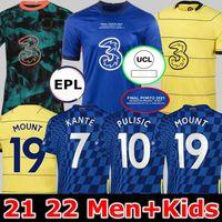 تشيلسي النهائيات CFC Soccer Jerseys Pulisic Ziyech Havertz Kante Werner Abraham Chilwell Mount Jorginho 2021 2022 Mendy Football Shirt 21 22 الصفحة الرئيسية الرابع رجال الاطفال