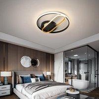 Tavan Işıkları Modern Led Ultra-ince Oturma Odası Için Yatak Odası Dış Uzaktan Yuvarlak Lamba Armatürleri Ile Dimmbale Büyümek 90-260 V
