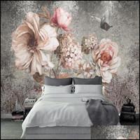 Fondos de pantalla Decor GardenWallpapers 3D Wallpaper para paredes nórdico retro flor mural pintura al óleo pintura al óleo decorativo decorativo decoración caída