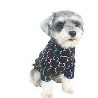 خطابات اللون المطبوعة الكلاب القمصان الخريف الشتاء الكلب الملابس تي شيرت أزياء في الهواء الطلق الملابس الحيوانات الأليفة تنفس البلوزات