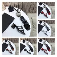 Sandals High Heel Shoes Comfortable Luxury Famous Brand Design Top Quality Genuine Leather poker star szie35-41