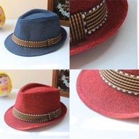 Niños Jazz Caps 21 Diseño Fedora Trilby Hat Fashion Unisex Casual Hats Baby Boy Girls Caps para niños Accesorios para niños Sombreros 218 U2