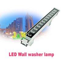 Lampade da prato 2pcs / lot ad alta potenza 12W 46 * 46 * 500mm IP65 impermeabile all'aperto LED a LED luce flood lampada lampada lampada paesaggio