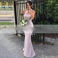 Charming Mermaid Halter Evening Dresses 2021 Sexy Strapless Sleeveless Floor Length Backless Special Occasion Prom Gowns