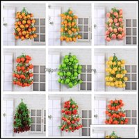 Event Festive Party Supplies & Gardenparty Decoration 5 Skewers Artificial Home Garden Kitchen Wall Hanging Ornament Fake Fruits Wedding Bir