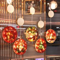 Christmas Round Led Decoration Hanging Light Room Curtain Xmas Tree Ornaments New Year Shopping Mall Window Home Decor