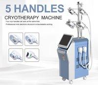 Profesyonel 5 Kolları Cryolipo Yağ Kaybı Serin Heykel Cryolipolis Makinesi Vücut Şekli Kriyoterapi İnce Cyro Yağ Donma Cihazı Satılık