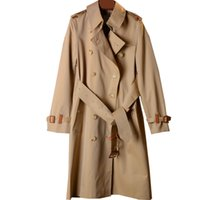 Winter Jackets Womens Trench Coats Overcoat Jacket With Hat Sportswear Leather decoration Long Section Double breasted Slim Trenchs Coat Elegants Coatss