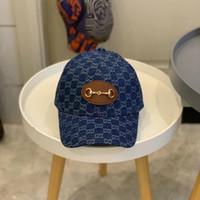 2021 Trendy Erkekler Beyzbol Şapkası Tam Mektup Baskılı Hip Hop Mavi Kadın Tasarımcılar Caps Şapka Kovboy Erkek Yaz Moda Cappelli Firmati