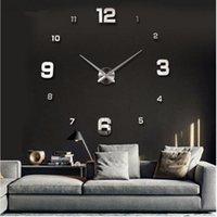Wall Clocks 2021 Arrival 3d Real Big Clock Modern Design Rushed Quartz Fashion Watches Mirror Sticker Diy Living Room Decor