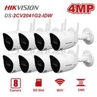 Hikvision DS-2CV2041G2-IDW 4MP كاميرا IP اللاسلكية 8PCS IR 30M دعم فتحة بطاقة SD ماء IP67 واي فاي شبكة كاميرات كامير