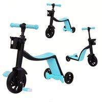 Подарочные наборы Детский скутер 3 в 1 многофункциональный баланс автомобильный трехколесный велосипед Baby Walker Ride на автомобилях для детей детские игры