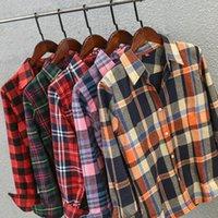 KUTIIYA autunno autunno camicia femminile stile universitario camicetta da donna a maniche lunghe in cotone casual da donna in cima alle magliette in outwear