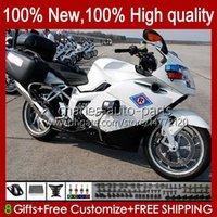 Body + Tank cover For BMW K1200 K 1200 S 1200S 05-10 Bodywork 28No.67 K1200-S K1200S New white 05 06 07 08 09 10 K-1200S 2005 2006 2007 2008 2009 2010 Motorcycle Fairing