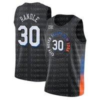 Julius 30 Randle RJ 9 Barrett Derrick 4 Rose Jersey Patrick 33 Ewing Baloncesto Jerseys NuevoYorkAmuñaduraJerseys de la ciudad 2021 NUEVO NEGRO 8989