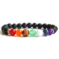 Beaded Bracelets Strands Natural Stone Jewelry 7 Chakra Anxiety Essential Oil Diffuser For Christian Gifts