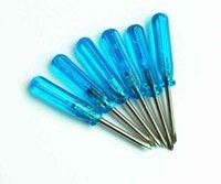 Destornilladores mini de 45 mm 1.5 Phillips / 2.0 Phillips / 2.0 Destornillador ranurado azul Destornillador azul