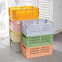 Armazenamento cesta sundries cosmético recipiente colapsible caixa caixa de desktop dobrável caso de organização em casa T2I52770