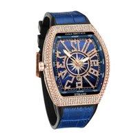 Todos os homens de relógio de relógio de Frank Céu de Barril Star Yacht conjunto de diamante