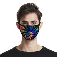 Novelty Items Cloth Face Tie Dyed Mask Windbreak Anti Haze Dustproof Facemask 3D Fashion Printing Ice Silk Mascarilla Personalized Reusable 2 2m CMHM