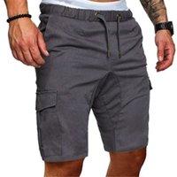 Дизайнерские мужские шорты хип-хоп грузовые бегуны тонкие летние шорты повседневные карманы сплошные цвета мужские пот брюки