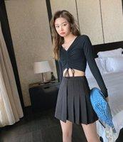 Skirts Fashion Women 2021 Spring Summer Autumn Female Casual A-Line Black Irregular High Waist Office All-Match Mini Skirt S106