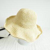 2021 Corea Beach Chapeaux Pour Femmes Chapeau de paille pliable Staché Sunscreen Beanie Holiday Sandal Sandal Chapeau Designer Bonnets Girl Cadeaux 1499 V2