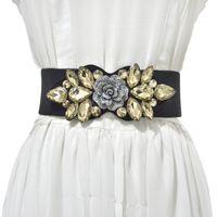 Mulheres de luxo fábrica de cristal direto diamante froux frouter dress vestido decoração de camisola com saia esticar moda selo de cintura