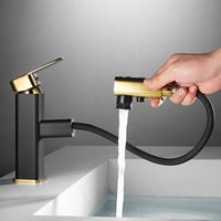 Basin Sink Faucet Brass Black And Cold Mixer Tap Deck Mounte...