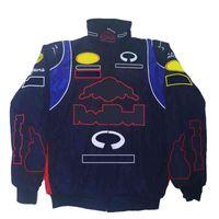 F1 Formula One Racing Veste de coton en coton d'hiver pour hommes en coton vram vrac hommes et femmes broderie