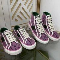 مصمم 1977 تنس قماش أحذية رجالي المرأة الكلاسيكية الموصى بها غسلها جعل القديم ارتفاع منخفض أعلى عارضة الأحذية المطرزة خمر جاكار الدينيم المطاط حذاء