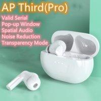 AP 3 برو H1 سماعات TWS اللاسلكية بلوتوث سماعات إلغاء الضوضاء حالة الشفافية المكانية الصوت المنبثف نافذة نافذة إعادة تسمية الذكية الاستشعار vs W1 Air2 Air3 Gen2 Gen3
