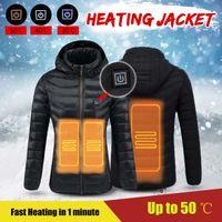 Luxusmarke Männer Daunenjacke Wasserdichte Beheizte Jacken Winter Warme USB Heizjacke Outdoor Sport Thermostat Mantel Mit Kapuze Wandern Camping