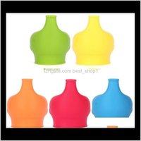 منتجات بار أخرى Sile Sile Sile Lid Nipple Lids أي حجم أطفال قدح كوب تسرب للرضع والأطفال الصغار BPA 5 ألوان EWA2266 7iiny FA2DC