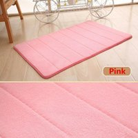 1*Carpet Memory Foam Bath Mat Doormat Entrance Rug Anti-Slip Indoor Outdoor Floor Carpet More Comfortable And Softer Mats