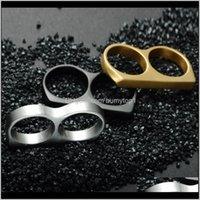 واقية والعتاد العلامة التجارية النحاس المفاصل ملصقا معدنية صائق اللكمات مزدوجة البنصر الدائري التيتانيوم الصلب 27 X2 G85SJ PBHAW
