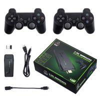 لعبة فيديو وحدة التحكم دعم 4K TV خارج ألعاب الألعاب 10000 الرجعية ألعاب مربع الهدايا مع لوحات التحكم اللاسلكية لاصقة ل ps1 / gb / md