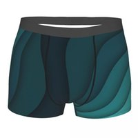 Короткие коротки для боксеров для мужчин Абстрактные синие волнистые фона короткое нижнее белье сексуальные прохладные большие мальчики сундуков