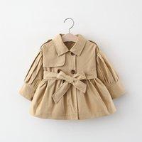 Bebé roupa roupa out desgastar casaco para baixo colarinho manga comprida cor sólida crianças primavera outono outwear com cinto
