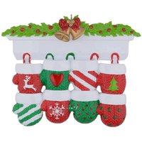 NewStyle Personalisierte Familie Weihnachtsbaum Ornament Anhänger Mini Weihnachtsstocking Hängende Anhänger NHD10364