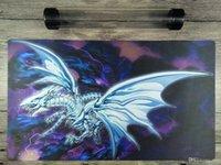 Yugioh bleu-yeux alternatif blanc dragon personnalisé playmat TCG Mat gratuitement meilleur tube wroade gratuit pour recevoir des sacs.