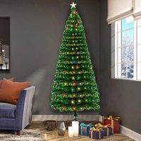 크리스마스 장식 260 LED 램프 분기와 7.5ft 광섬유 트리
