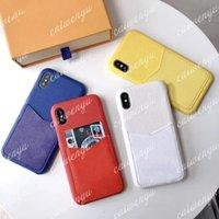 Casi del telefono di modo per iPhone 12 Pro Max Mini 11 11Pro XR XSMax Shell in pelle Multi-funzione Pacchetto PACCHETTO Copertura portafoglio Copertura del portafoglio B09- # 1-3