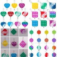 Mini push Pop Gift Sets Bubble Sensory Toy Autism Need Needs Squishy Stress Relevador Toys Anit-Stress Fidget Llavero Niños Adulto 608 B3