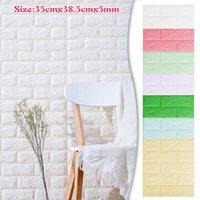 Wall Stickers 1PC 3D Brick Sticker Waterproof Self Adhesive Foam Wallpaper Living Room Bedroom Kitchen TV Backdrop Decoration